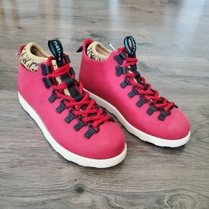 Native Boots Waterproof Red kids size 3